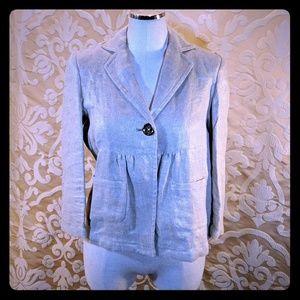 Michael Kors linen jacket Blazer gold beige 4 S